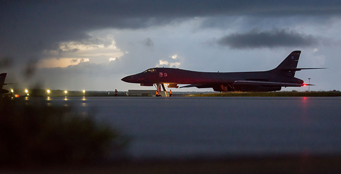 U.S. Bombers, Fighters Fly in International Airspace East of North Korea